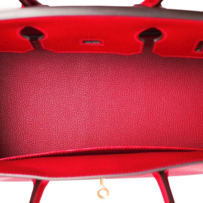 Hermes Birkin 35cm Rouge Casaque Lipstick Red Epsom Bag Gold Hardware NEW 4