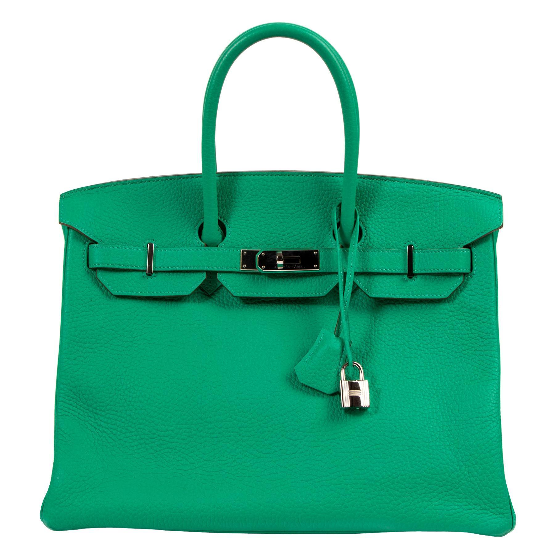 Hermès Birkin 35cm Taurillon Clemence Green Menthe PHW