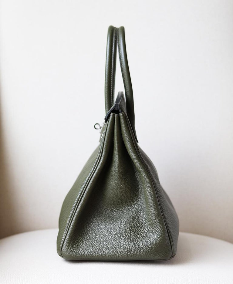 Gray Hermès Birkin 35CM Togo Palladium H/W Bag For Sale