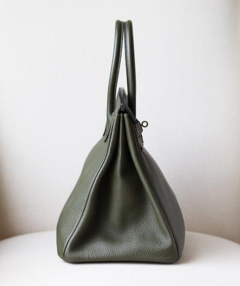 Hermès Birkin 35CM Togo Palladium H/W Bag In Excellent Condition For Sale In London, GB