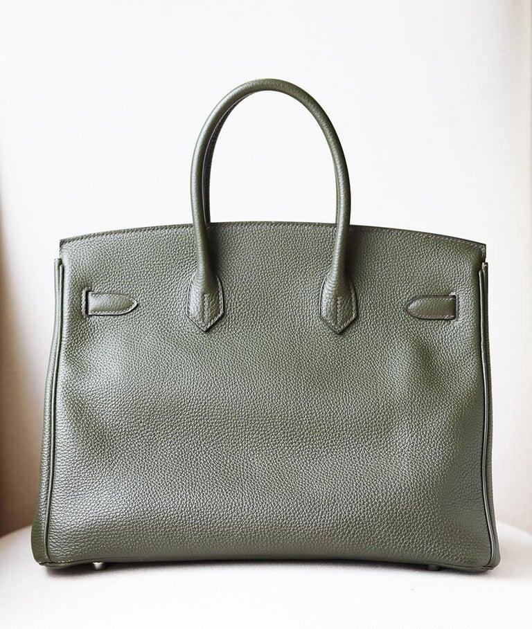 Women's Hermès Birkin 35CM Togo Palladium H/W Bag For Sale