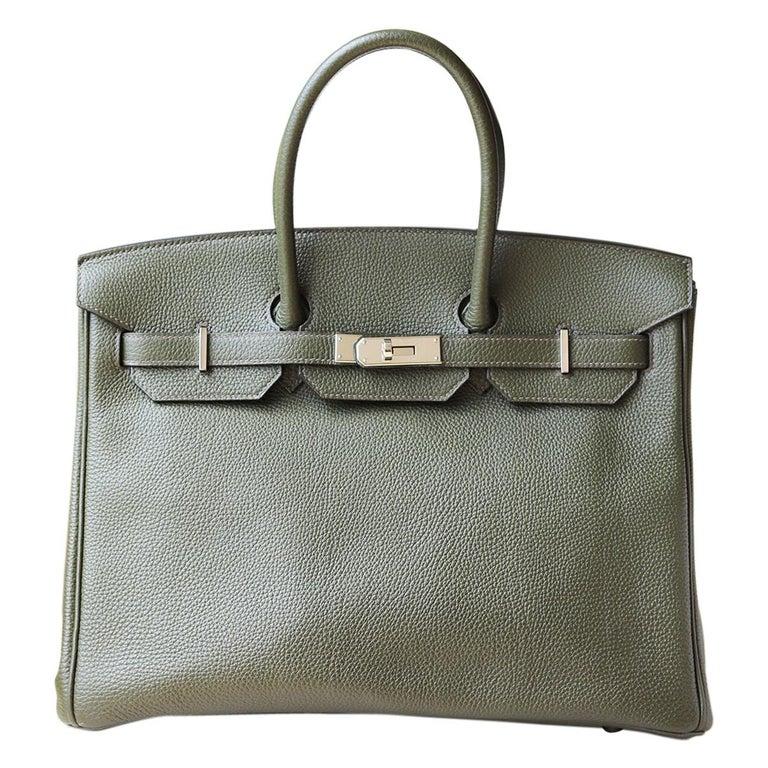 Hermès Birkin 35CM Togo Palladium H/W Bag For Sale