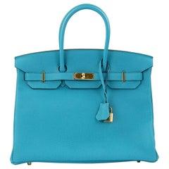 Hermes Birkin 35cm Turquoise Togo GHW