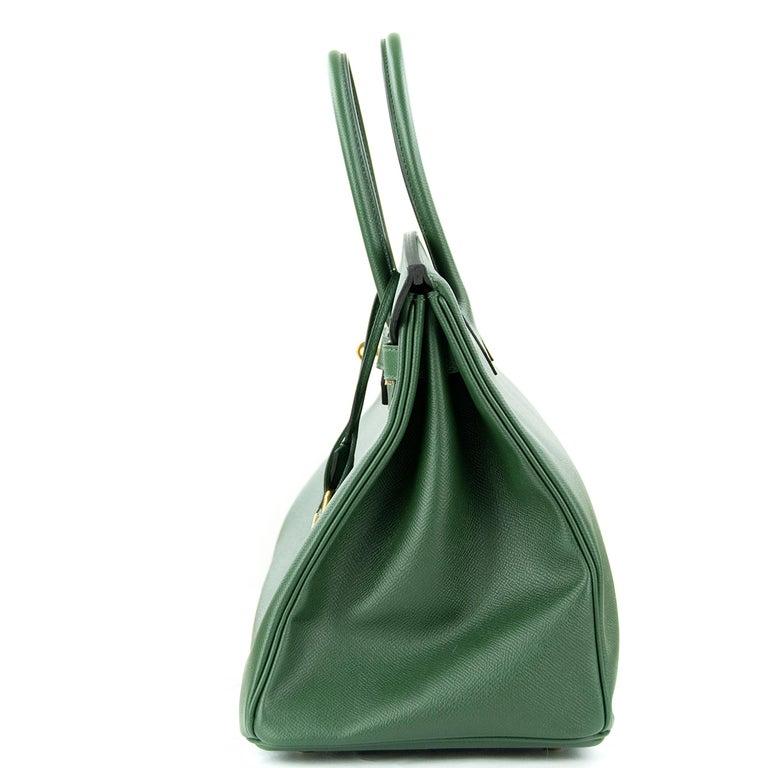 Hermes Birkin 35cm Vert Fonce Epsom GHW For Sale 4