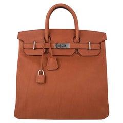 Hermes Birkin 40 Bag HAC Cuivre Taurillon Saddle Leather Brushed Palladium Hardw