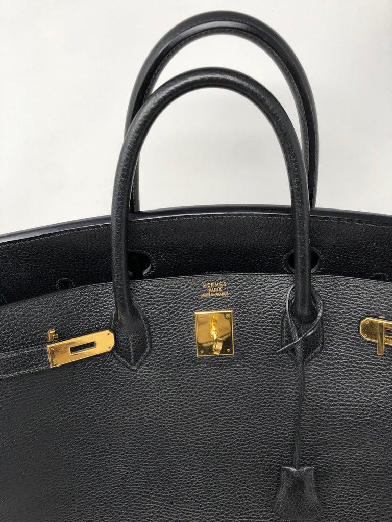 Hermes Birkin 40 Black  For Sale 6
