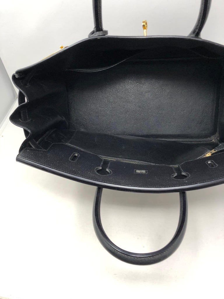 Hermes Birkin 40 Black  For Sale 7