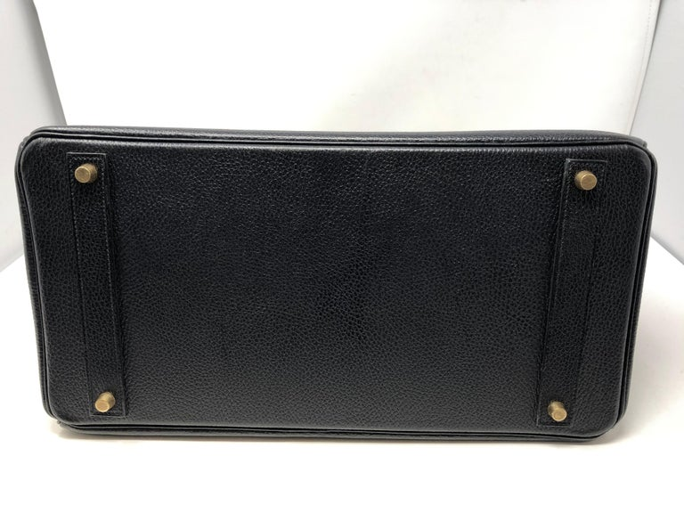 Hermes Birkin 40 Black  For Sale 8