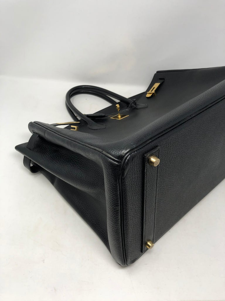 Hermes Birkin 40 Black  For Sale 9