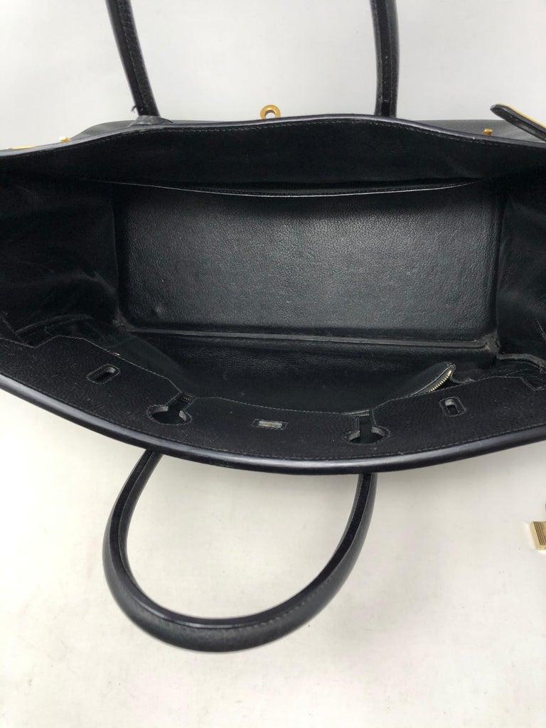 Women's or Men's Hermes Birkin 40 Black  For Sale