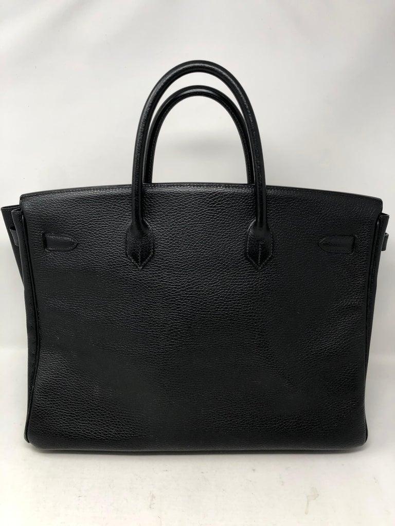 Hermes Birkin 40 Black  For Sale 1