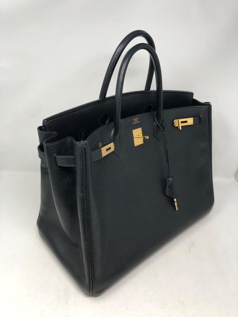 Hermes Birkin 40 Black  For Sale 2