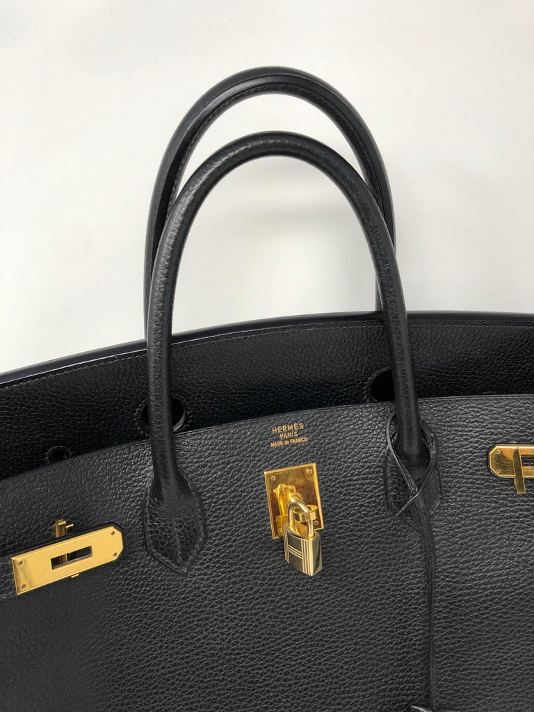 Hermes Birkin 40 Black  For Sale 3