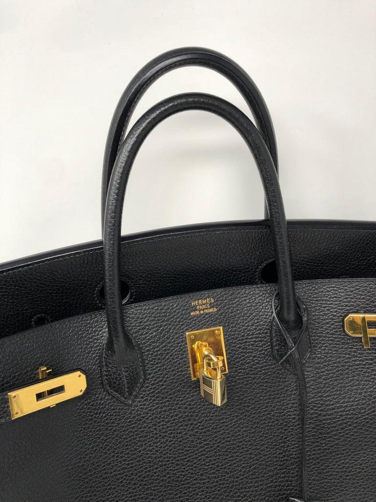 Hermes Birkin 40 Black  For Sale 4