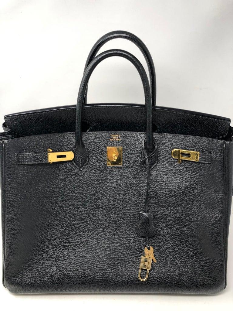 Hermes Birkin 40 Black  For Sale 5
