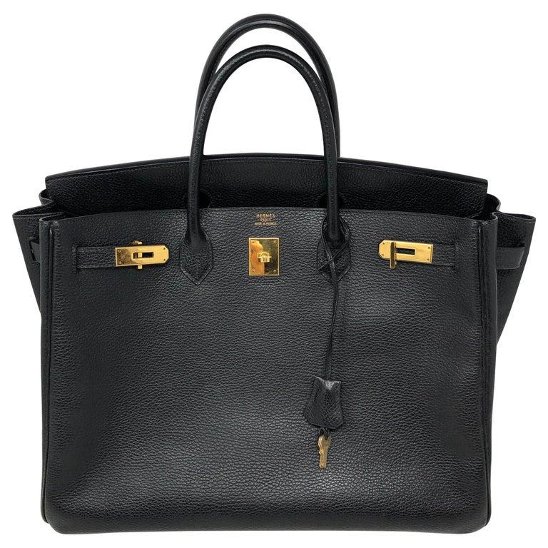 Hermes Birkin 40 Black  For Sale