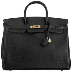 Hermes Birkin 40 cm Black Togo with Gold Hardware Bag