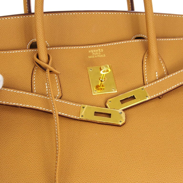 The All-Purpose Hermes Birkin You Need.    The motherlode of Hermes Birkin bags, this chic and smart Hermes Birkin 40 is the epitome of a lifestyle accessory.  Handcrafted of supple leather and enriched with shiny gold tone hardware, it is ideal for
