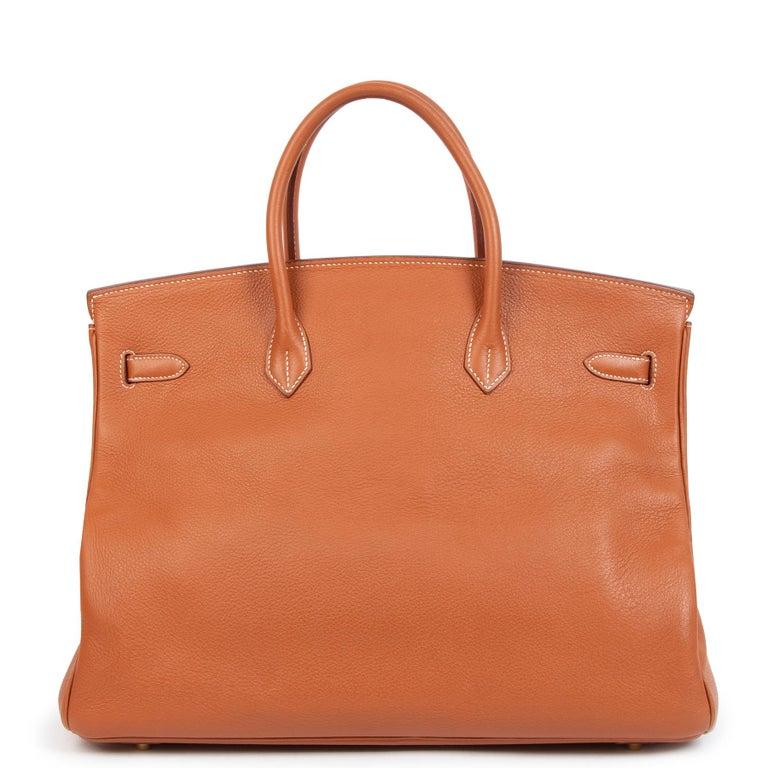 Orange Hermès Birkin 40 Etrusque Clemence Taurillon GHW