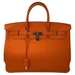 Hermes Birkin 40 Feu Orange Togo