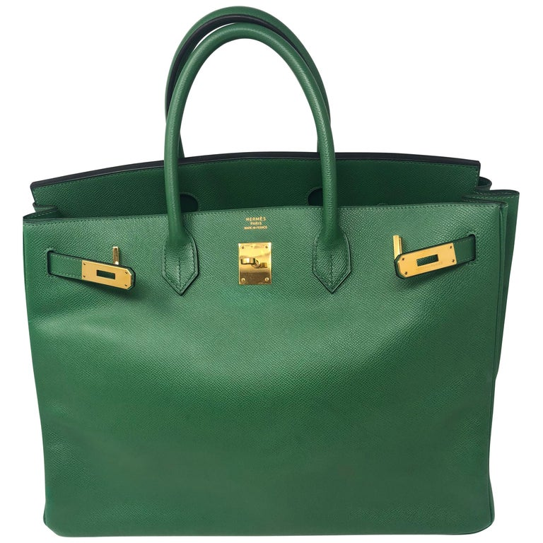 49bb7a7121cd Hermes Birkin 40 Green For Sale at 1stdibs