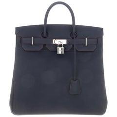 Hermes Birkin 40 NEW Special Order Blue Travel Top Handle Satchel Tote Bag W/Box