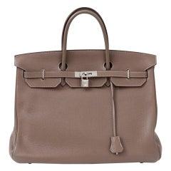 Hermes Birkin 40 Togo Etoupe Bag