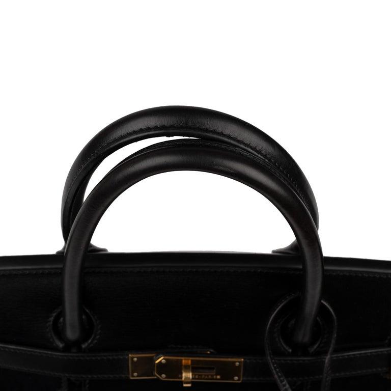 Hermes Birkin 40cm Black Box Leather Handbag For Sale 6