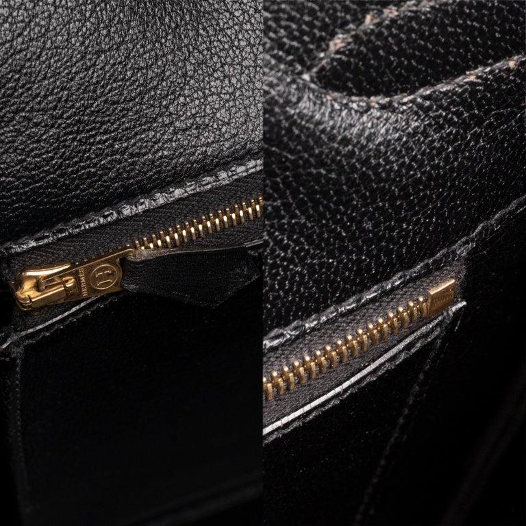 Hermes Birkin 40cm Black Box Leather Handbag For Sale 7
