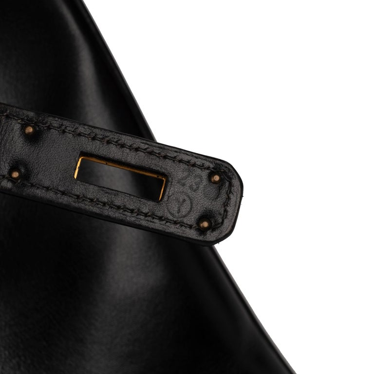 Women's Hermes Birkin 40cm Black Box Leather Handbag For Sale