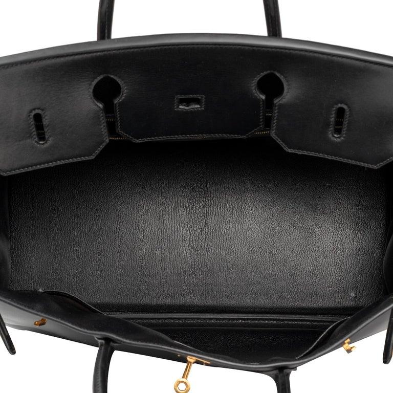 Hermes Birkin 40cm Black Box Leather Handbag For Sale 1