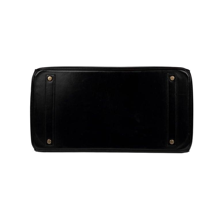 Hermes Birkin 40cm Black Box Leather Handbag For Sale 4
