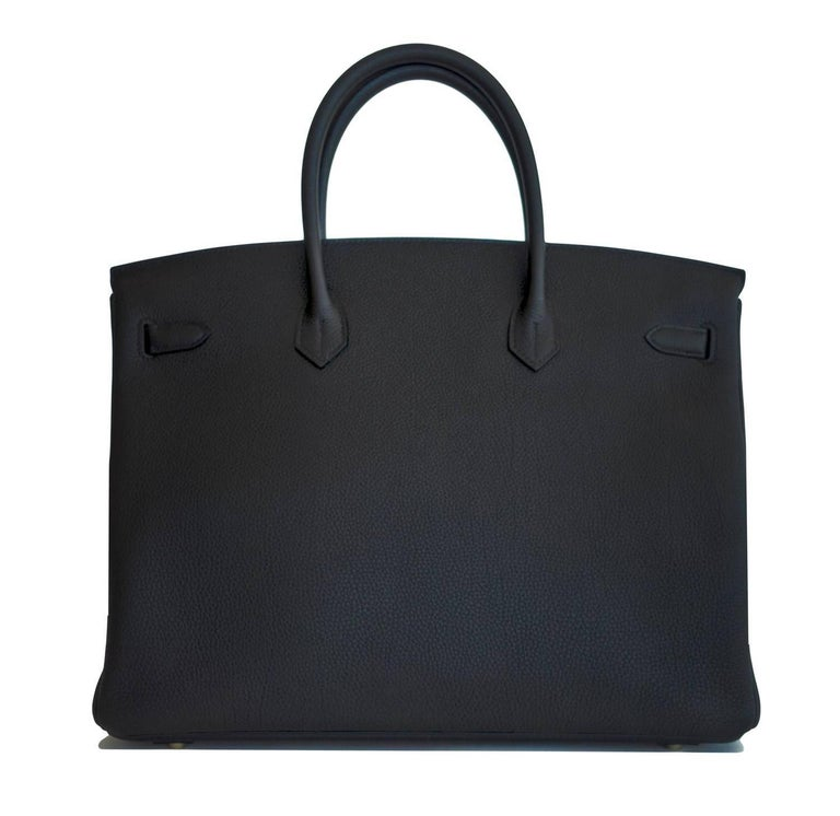 Hermes Birkin 40cm Black Togo Gold Hardware Power Birkin D Stamp, 2019 In New Condition For Sale In New York, NY