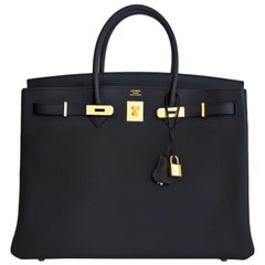 Hermes Birkin 40cm Black Togo Gold Hardware Power Birkin D Stamp, 2019
