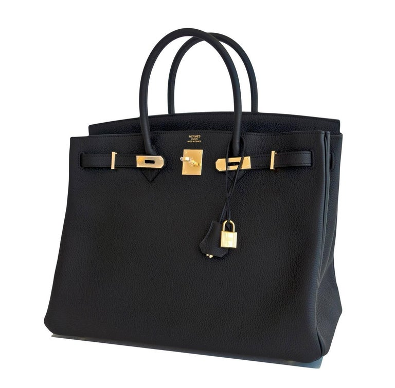 Hermes Black Togo 40cm Birkin Gold Hardware GHW Power Birkin  Brand New in Box. Store fresh. Pristine Condition (with plastic on hardware).  Perfect gift! Just purchased from Hermes store. Comes with lock, keys, clochette, sleeper, raincoat, and