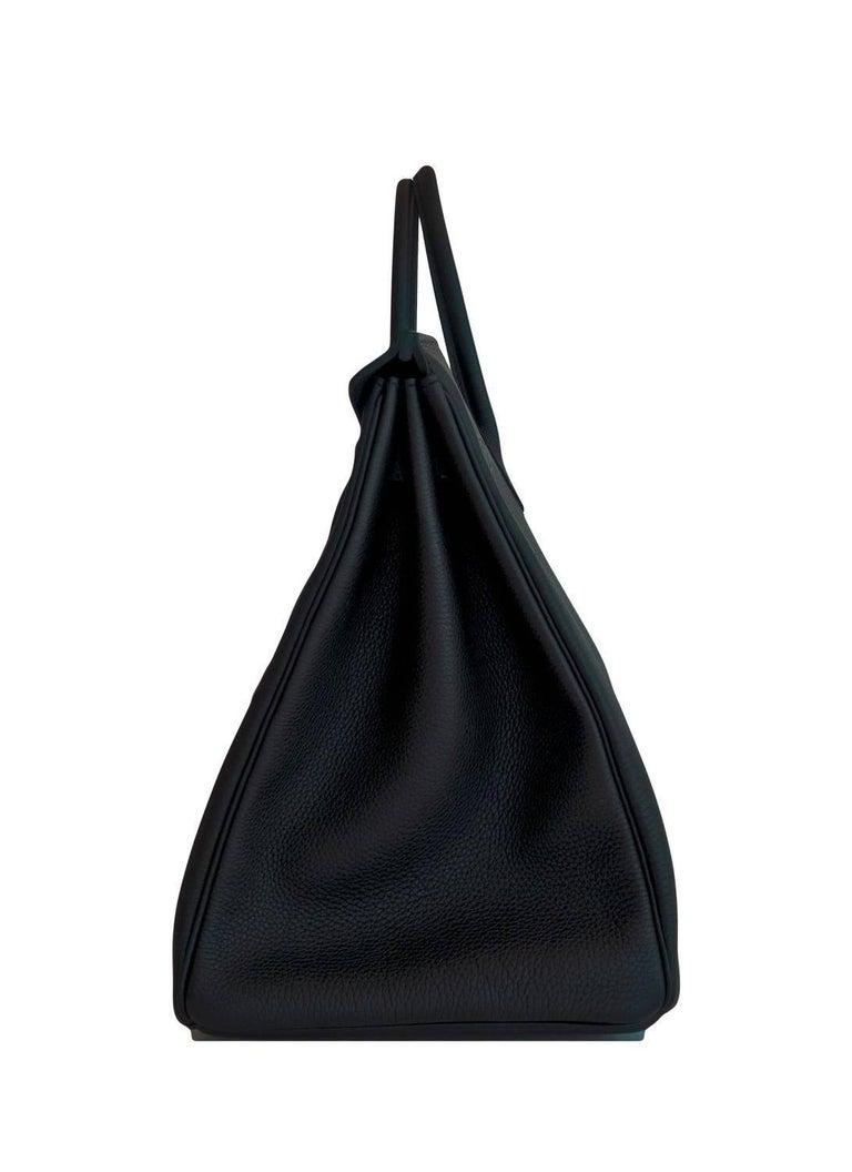 Hermes Birkin 40cm Black Togo Gold Power Birkin Bag NEW RARE For Sale 2