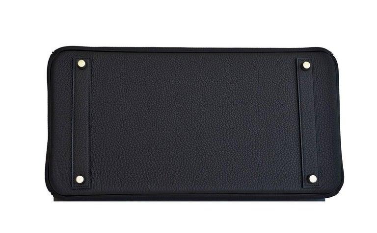 Hermes Birkin 40cm Black Togo Gold Power Birkin Bag NEW RARE For Sale 3