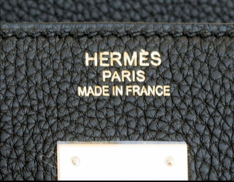 Hermes Birkin 40cm Black Togo Gold Power Birkin Bag NEW RARE For Sale 5