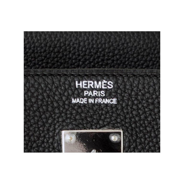 Hermes Birkin 40cm Black Togo Palladium Hardware Bag Y Stamp, 2020 ULTRA RARE 4