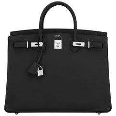 Hermes Birkin 40cm Black Togo Palladium Hardware Bag Y Stamp, 2020 ULTRA RARE