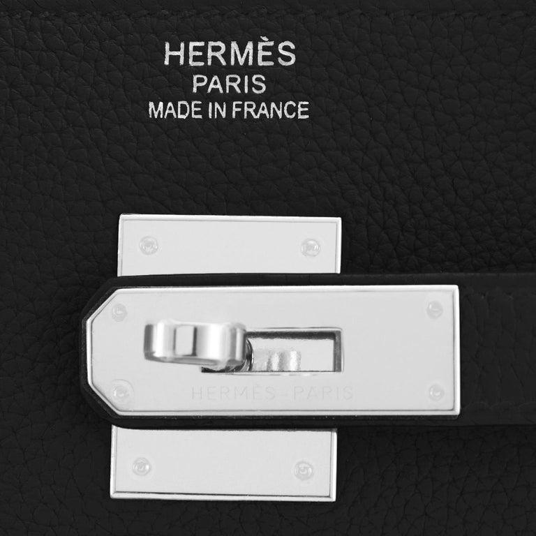 Hermes Birkin 40cm Black Togo Palladium Hardware Bag Z Stamp, 2021 ULTRA RARE For Sale 8