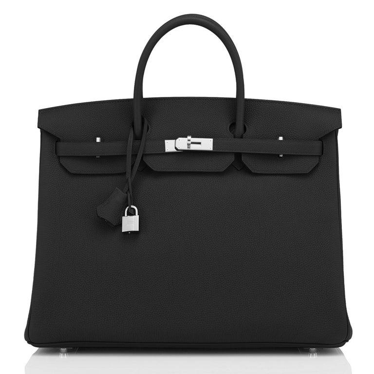 Hermes Birkin 40cm Black Togo Palladium Hardware Bag Z Stamp, 2021 ULTRA RARE In New Condition For Sale In New York, NY