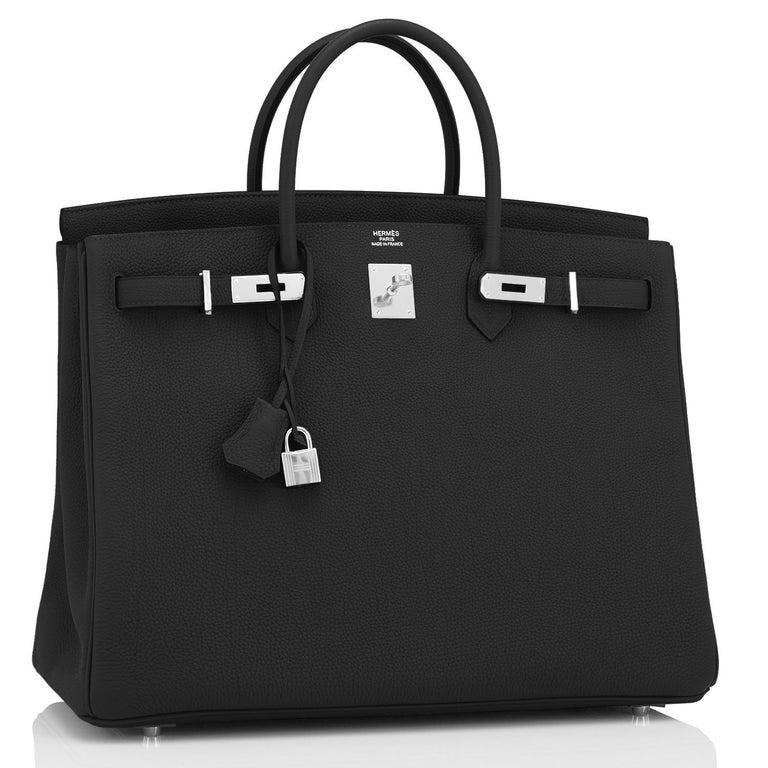 Women's or Men's Hermes Birkin 40cm Black Togo Palladium Hardware Bag Z Stamp, 2021 ULTRA RARE For Sale