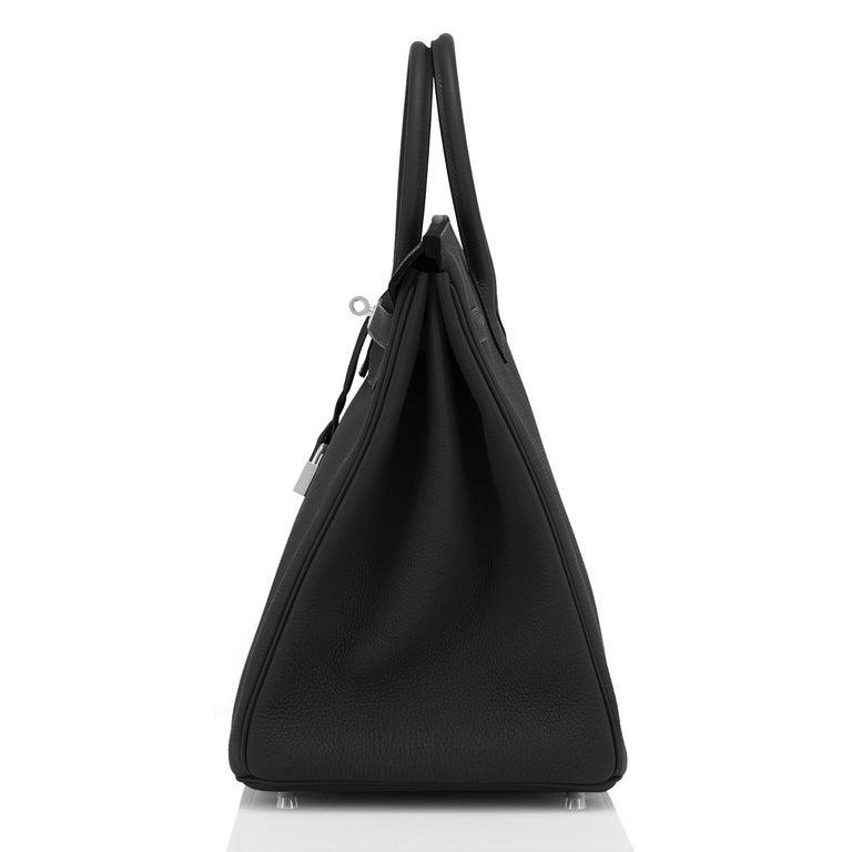 Hermes Birkin 40cm Black Togo Palladium Hardware Bag Z Stamp, 2021 ULTRA RARE For Sale 1