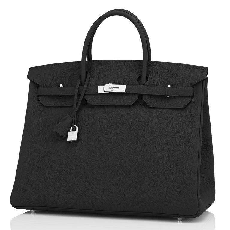 Hermes Birkin 40cm Black Togo Palladium Hardware Bag Z Stamp, 2021 ULTRA RARE For Sale 2