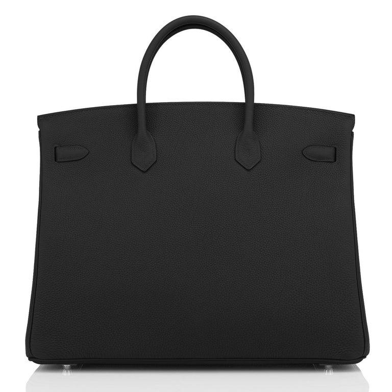 Hermes Birkin 40cm Black Togo Palladium Hardware Bag Z Stamp, 2021 ULTRA RARE For Sale 3