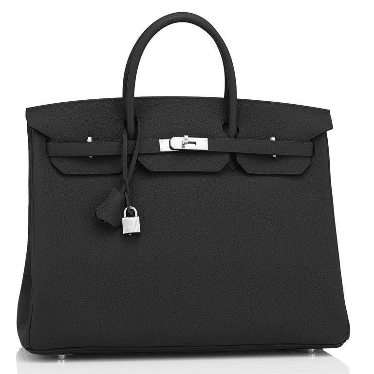 Hermes Birkin 40cm Black Togo Palladium Hardware Bag Z Stamp, 2021 ULTRA RARE For Sale 4