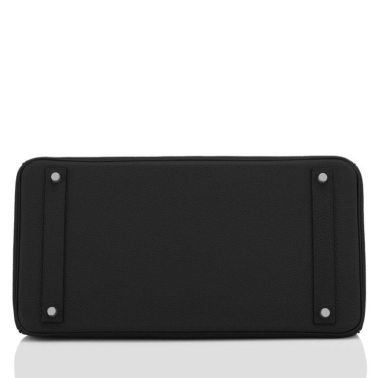 Hermes Birkin 40cm Black Togo Palladium Hardware Bag Z Stamp, 2021 ULTRA RARE For Sale 5