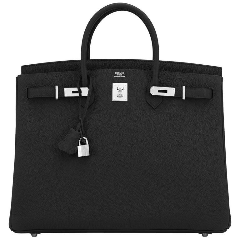 Hermes Birkin 40cm Black Togo Palladium Hardware Bag Z Stamp, 2021 ULTRA RARE For Sale