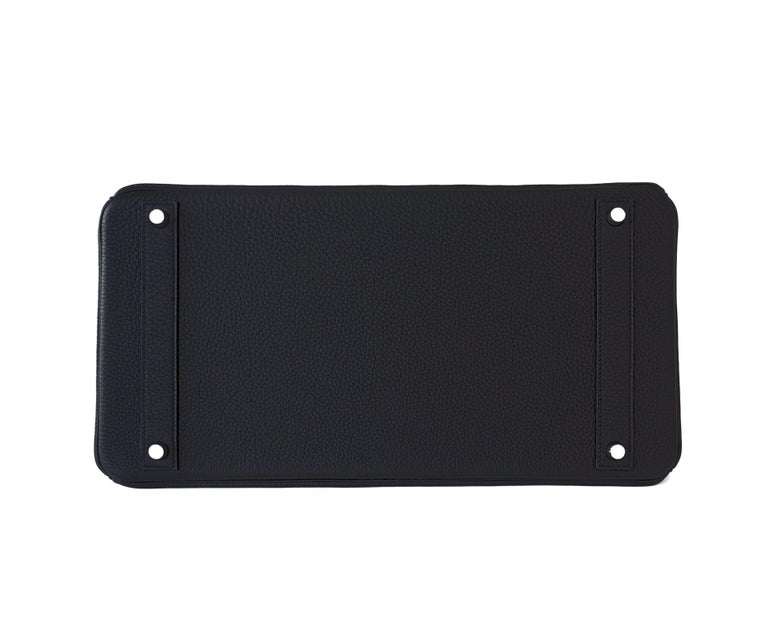 Hermes Birkin 40cm Black Togo Palladium Hardware Birkin Bag D Stamp, 2019 For Sale 2